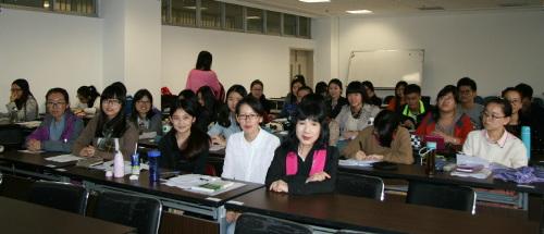 華中科技大学で講義